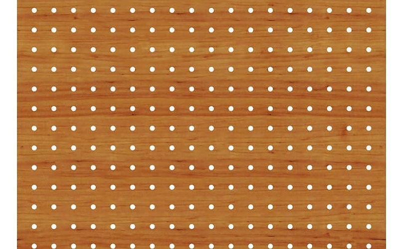 1000 Delikli Akustik Ahşap Panel